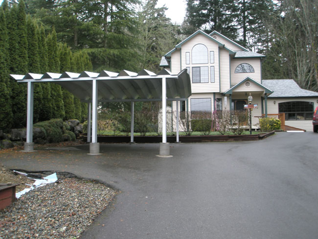Carports minneapolis aluminum carports carport covers mn for How big is a two car garage
